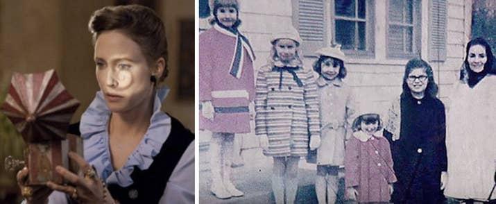 La película se basa en la historia de un demonio real que atormentó a la familia Perron en Rhode Island durante los años 70, y la hija mayor dice que su familia realmente sufrió esos tormentos durante nueve años. ¡NUEVE! —emilianol4