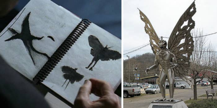 In 1966–67, residents of Point Pleasant, West Virginia, claimed to see a giant, winged creature with glowing red eyes. Then, when a local bridge collapsed, leaving 46 dead, the 'Mothman' never appeared again. Coincidence? Who knows.—bethk19