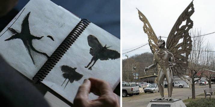 """Entre 1966 y 1967, los residentes de Point Pleasant, Virginia Occidental, afirmaron haber visto una criatura alada gigante con brillantes ojos rojos. Entonces, luego de que un puente local se desplomara, dejando 46 muertos, el """"Mothman"""" nunca volvió a aparecer. ¿Coincidencia? ¡Quién sabe!—bethk19"""
