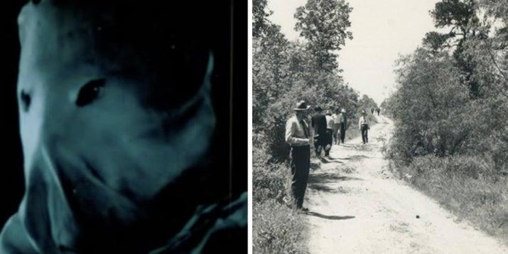 """Esta escalofriante película de los años 70 se basa parcialmente en los Asesinatos a la luz de la luna de Texarkana, que asolaron la pequeña ciudad texana de Texarkana del 22 de febrero de 1946 al 3 de mayo del mismo año. El """"Asesino Fantasma"""" atacaba a parejas jóvenes que encontraban en autos estacionados. Los homicidios permanecen sin resolver.—frankenphantom"""