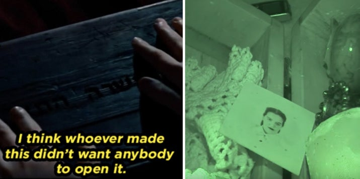 Esta película trata sobre una caja Dybbuk, así se le conoce a una caja donde habita un espíritu maligno. ¿Queda claro? Genial. Aparentemente, en la vida real, una niña abrió una de estas y todo el infierno se liberó y los demonios se apoderaron de ella. Así que no andes por allí comprando cajas espeluznantes, ¿entendido?—Maria Kanno, Facebook