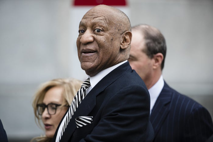 Bill Cosby departs after a pretrial hearing in April.