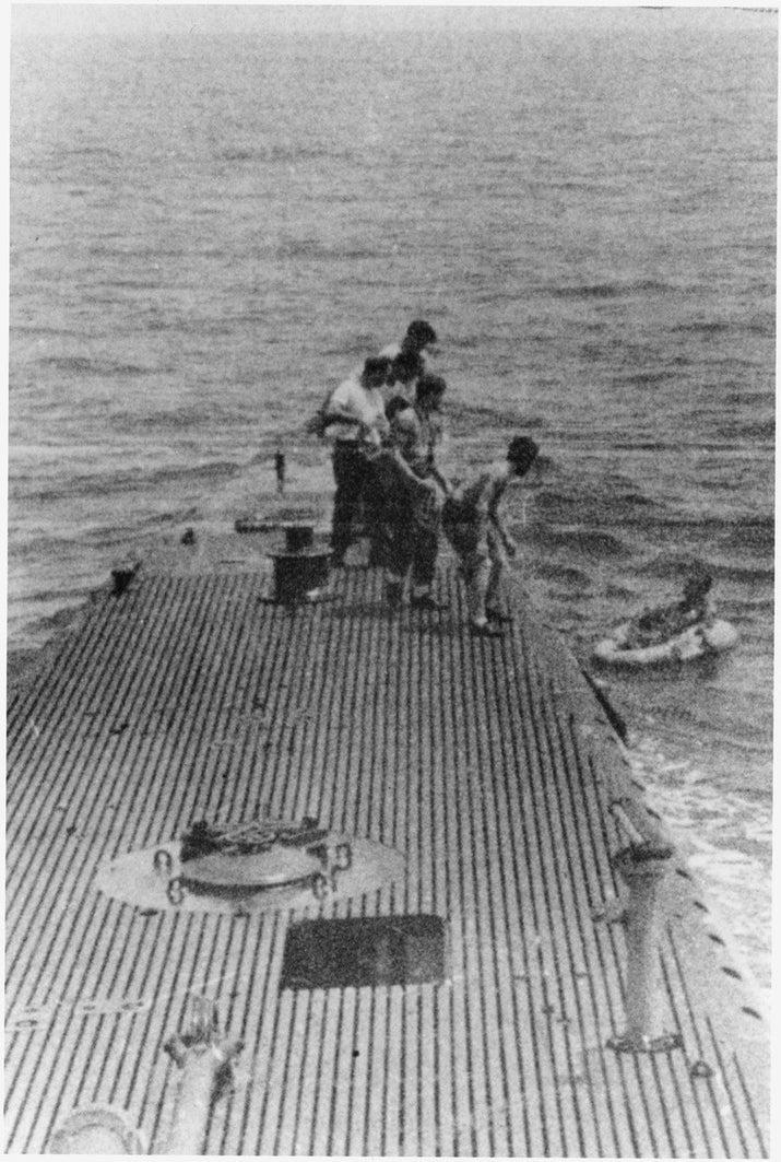 Durante la Segunda Guerra Mundial, ocurrió una incursión aérea de Estados Unidos sobre la isla de Chichijima, usando cuatro aeronaves Grumman TBM Avenger. Nueve aviadores cayeron durante la incursión, que incluyó al entonces teniente segundo George H.W. Bush. Mientras que Bush fue rescatado por el USS Finback, los otros tuvieron perturbadores destinos. Fueron capturados y ejecutados por las fuerzas japoneses y sus hígados fueron consumidos por sus aprehensores.