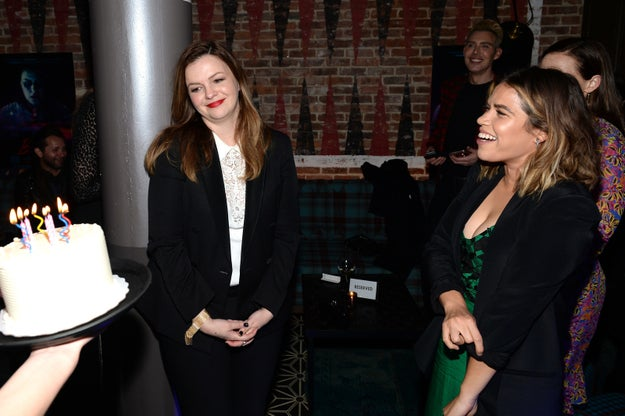 And America Ferrera later caught up with them at the after party for some cake and really cute photos.