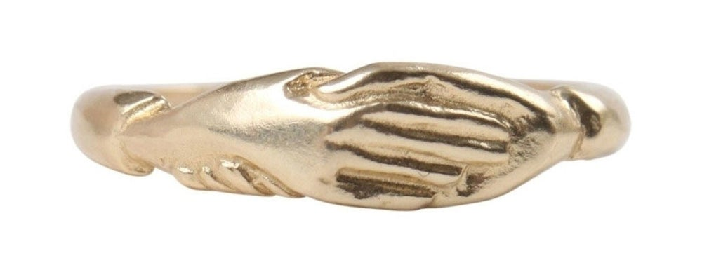 Get it on Catbird for $410 (available in 14k rose, white, and yellow gold and in sizes 5-8). Engrave the band for $40.