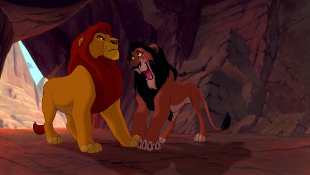 Anyways, we find out that SEXY LION MAN has a name and it's Mufasa. His brother Scar DGAF about Simba's mountain thrusting ceremony and Mufasa is not happy about it.