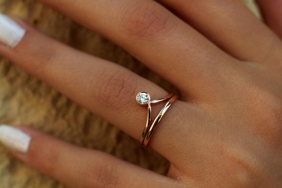 Get it from DoronJewelry on Etsy for $650 (available in yellow, white, and rose gold, and in sizes 3.5-9).