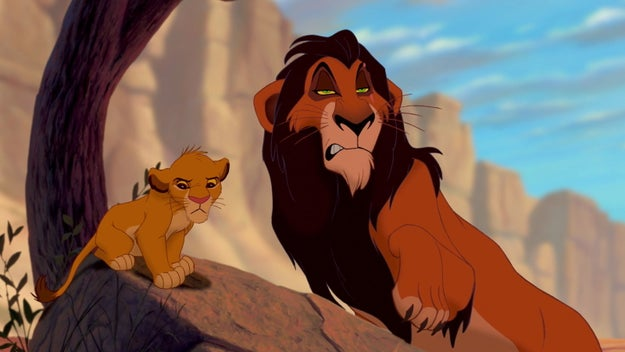 Some amount of time has passed (not sure how much) and Scar is doing what he does best — fucking with Simba's head.