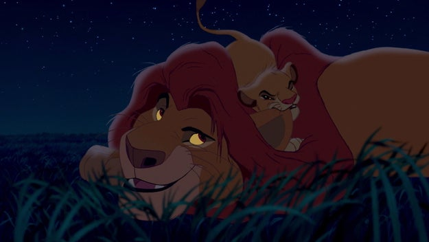And Mufasa and Simba chill and it's totally normal. They're just going to keep having happy bonding time for the rest of this movie. It's gonna be so sweet!