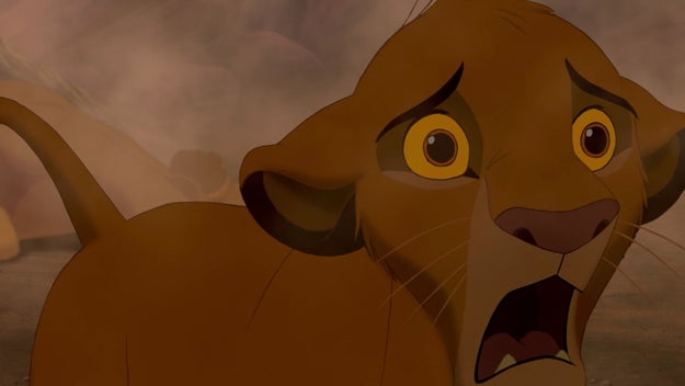 And then the dark truth sets in, as it always does, and Simba realizes his father is really dead.