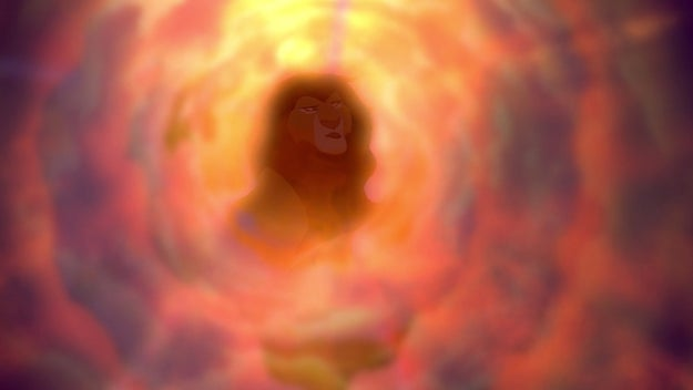 A lot of stuff happens, but he's convinced to return to his home after he sees GHOST MUFASA in the sky. And he realizes that his father will always be alive in spirit and it's so beautiful. It's actually the only thing that makes Mufasa's death just a little less painful.