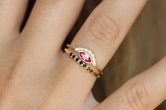 Get it from artemer on Etsy for $1,280 (available in 18k rose, yellow, and white gold, and in sizes 3-9).