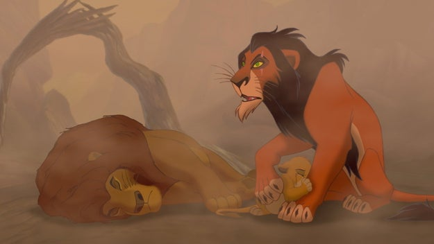 And just when you think it can't get any worse, fucking SCAR comes and convinces Simba that he's responsible.