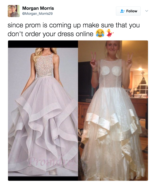 Another year, another round of teen girls who were duped into buying prom dresses online that didn't quite deliver.