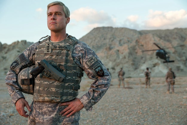 """The movie tells the story of General Glen McMahon (Pitt), who tries to """"win"""" the war in Afghanistan."""