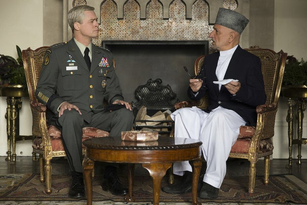 The satirical comedy War Machine, out on Netflix and in select theaters on May 26, is the latest film from Brad Pitt.