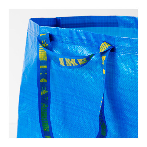 22 better uses for ikea 39 s iconic blue shopping bag. Black Bedroom Furniture Sets. Home Design Ideas
