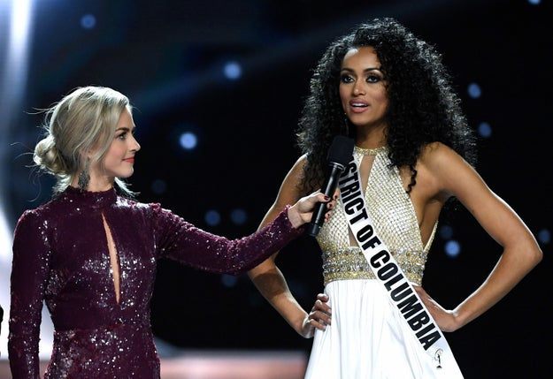 The newly-crowned Miss USA clarified comments she made during Sunday's pageant, telling Good Morning America on Tuesday that affordable health care is a right and that she's privileged to have it through her employer.