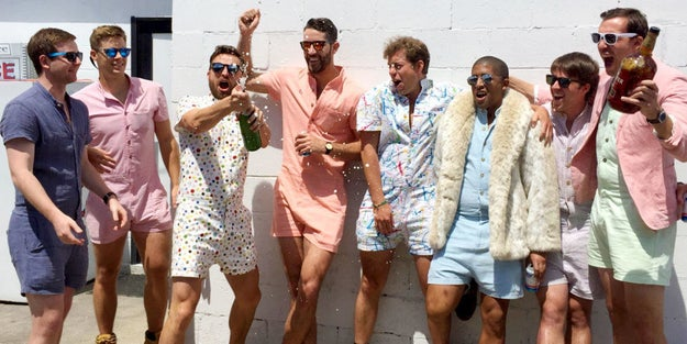 In case you SOMEHOW haven't heard: Rompers for men are going to be ~all the rage~ this summer thanks to a group of bros who created the RompHim.