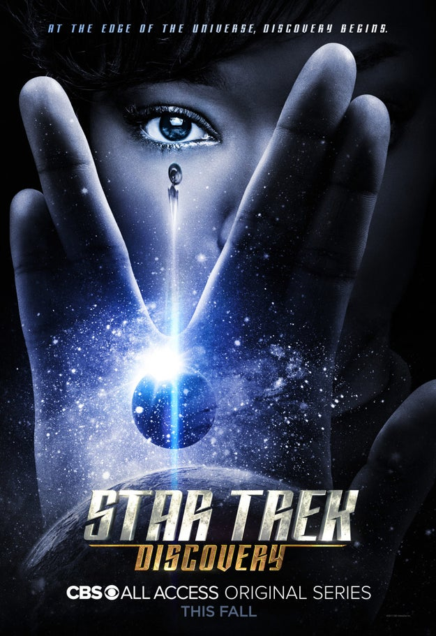 The official poster for Discovery, prominently featuring the classic Vulcan salute, certainly reinforces the idea that Burnham's heritage is connected to Vulcan.