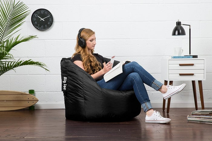They should just call them, human-bean chairs.Get it on Amazon for $42 (available in sapphire and black).