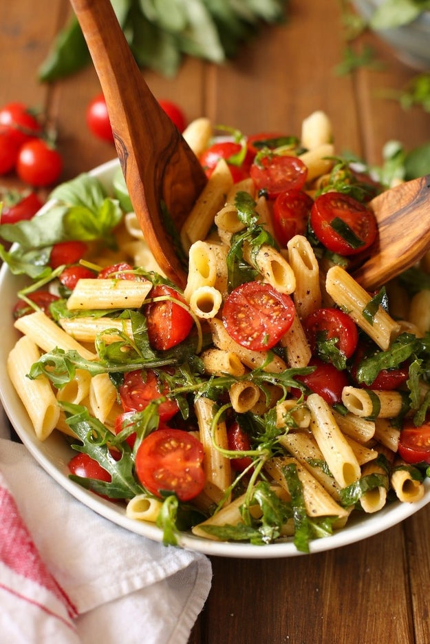 Tomato and Arugula Balsamic Pasta Salad