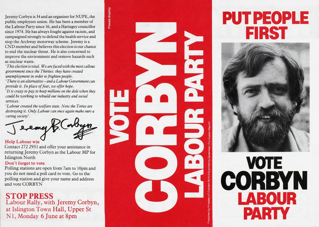 In 1983, Jeremy Corbyn stood for parliament for the very first time.