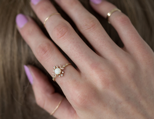 Get it from Sofia Zakia on Catbird for $1,260 (available in 14k rose and yellow gold, and in sizes 3-9).