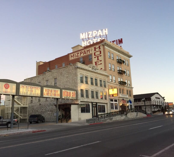 'When in Tonopah, the place to stay is the Mizpah Hotel, a 1908 structure that has been beautifully restored. Reserve the Lady in Red room on the 5th floor #504 — the room honors the young lady of the evening who was killed in the room and is supposedly haunted.' —Yelper Gerry W.