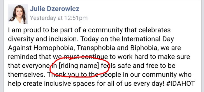 Julie Dzerowicz Mp For The Davenport Riding In Toronto Was Sharing A Message Commemorating