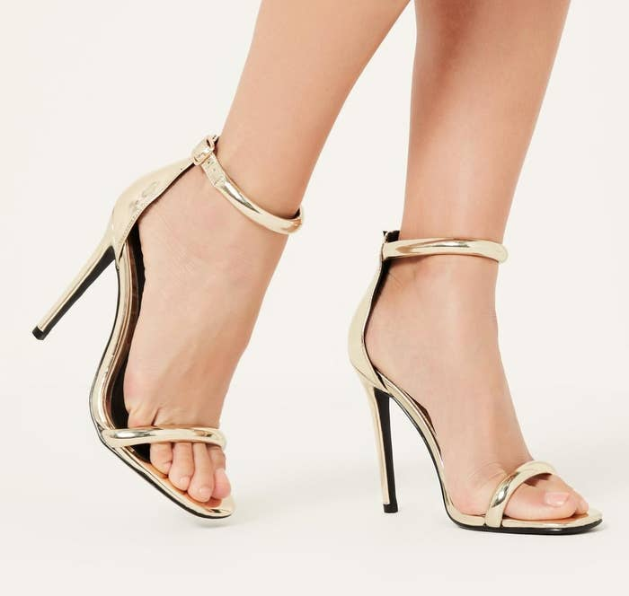 0d7550944f4c27 Gold heels that are better than a golden ticket. Dear Willy Wonka
