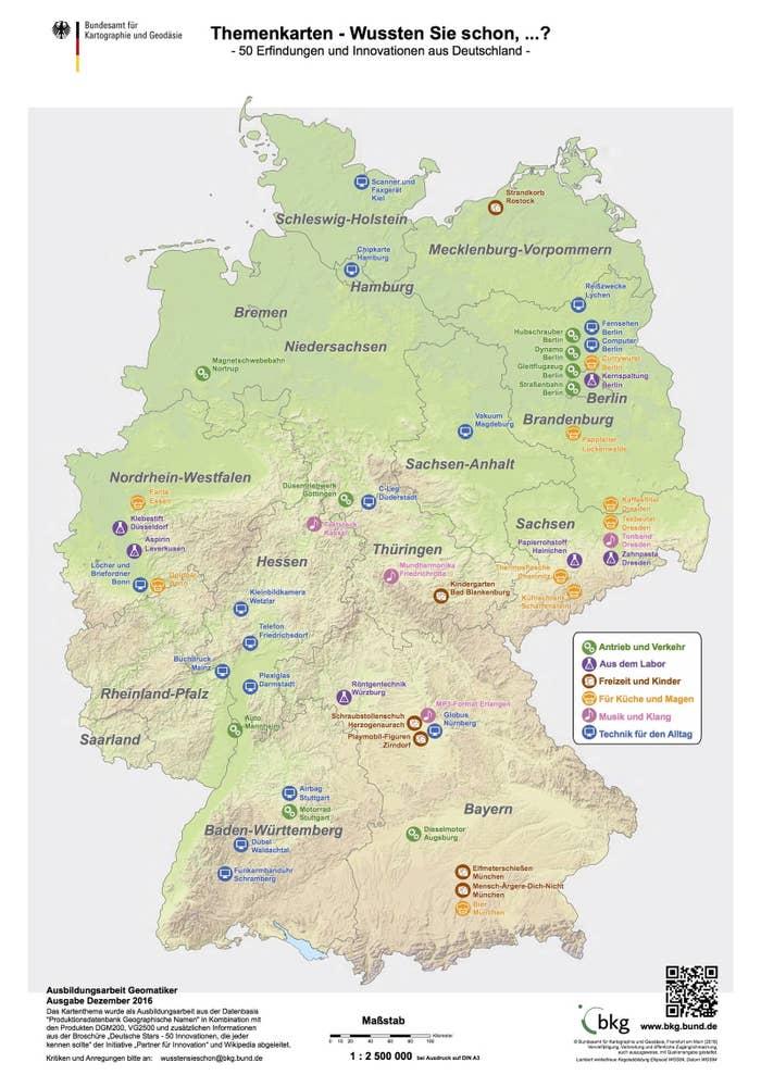 25 Karten, die dir genau erklären, wie Deutschland funktioniert