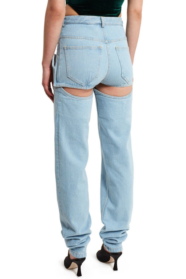 So what's the deal with them? Welp, they're jeans that detach and turn into shorts.