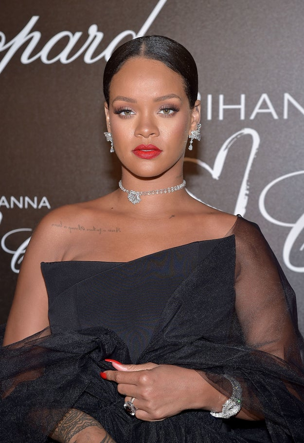 Her beauty literally took my breath away and normally only food has that power! Rihanna was literally dripping in Chopard diamonds.