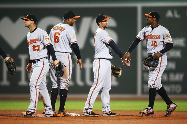 The Orioles beat the Red Sox Monday 5-2.