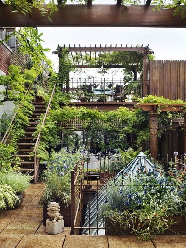 This multi-level garden that's in New York City, if you can believe it: