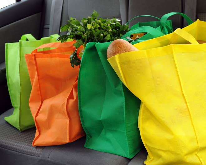 Buy a reusable canvas one and remember to bring it with you next time you go shopping.