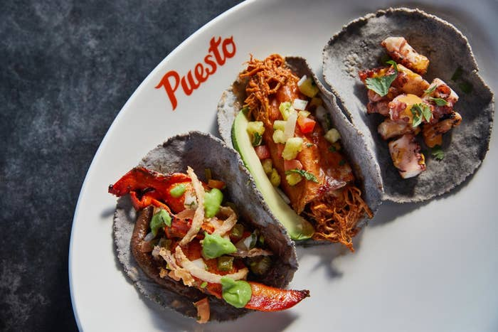 The Taco Tuesday Deal: $2.50 Tacos$3.50 Modelo Especial cans $6 Puesto Perfect Margaritas (3 - 5pm only) The Cinco de Mayo Deal: In San Diego on Cinco De Mayo, you can enjoy Casa Noble Tequila specials, as well as shareable plates like guacamole and ceviche. You can even dance the night away at The Headquarters location with DJ Mr. Mention playing from 4-10pm. For those not in San Diego, Puesto will be having their annual free Cincoteca event at their newest location at Los Olivos in Irvine, featuring live music from Los Master Plus with special guests! There also will be margarita specials from Casa Noble Tequila and beer specials from Modelo Especial from 3-9pm. Feast your eyes on more mouthwatering food pics by checking out the colorful insta page @eatpuesto! Delicious tacos and cocktail menu? Yes, please! This new age taco restaurant has great deals and fiesta-like atmosphere that would be perfect for you and your friends to get locooooooo on Cinco de Mayo!
