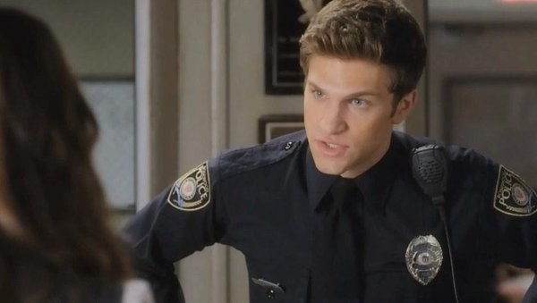 When Toby became a legitimate police officer while he was still in high school.