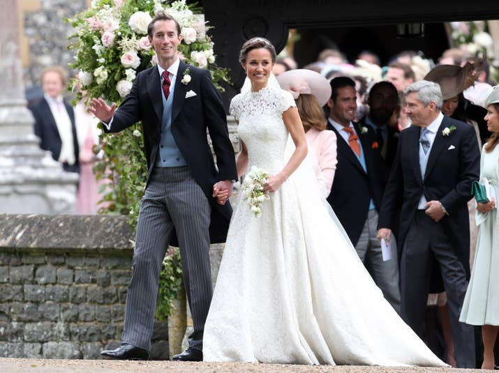 pippa middleton sister of the duchess of cambridge just got married in the most beautiful dress to jamesetc etc etc