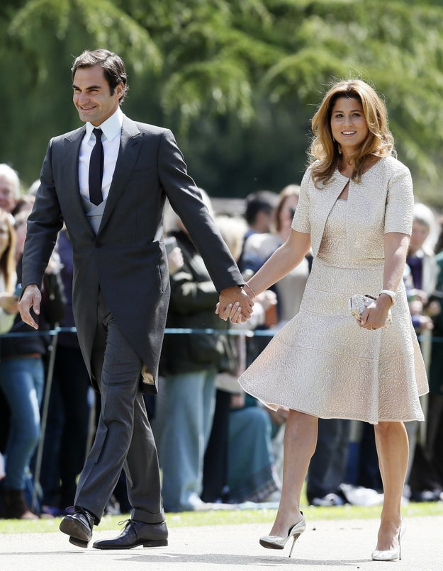 Let's just get to the point here, shall we? Roger Federer, tennis legend, master of strokes, the highest-ranked player (in my heart) attended the wedding looking like the goddamn champion he is.