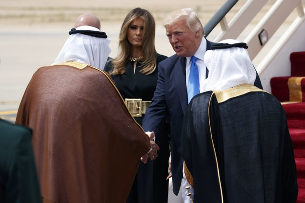 When President Trump arrived in Saudi Arabia on Saturday and met King Salman, Trump did not bow, shaking the king's hand instead.