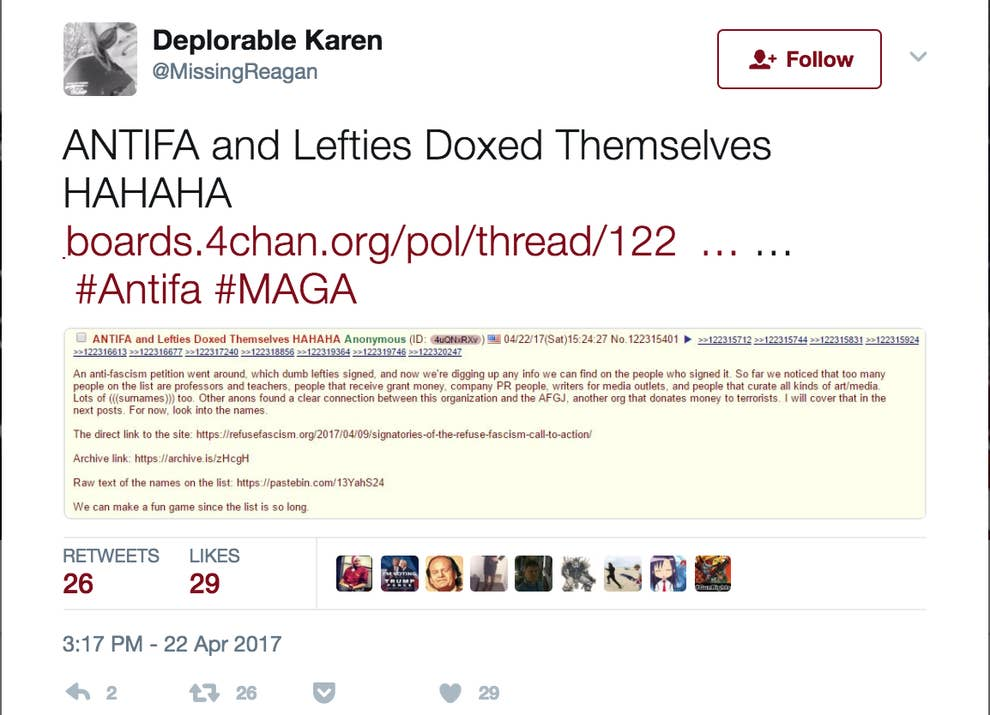 Trump Supporters Have Built A Document With The Addresses And Phone
