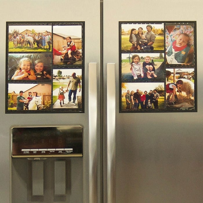 "Promising Review: ""I have received a lot of compliments on these collage frames. I used to have single, plastic frames for my refrigerator and it started to look gaudy. These frames really look nice."" —K. RichGet a pack of two from Amazon for $17.50."