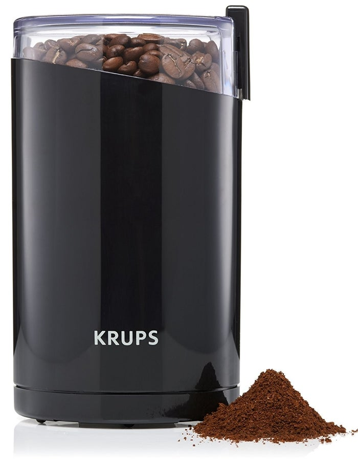 """Promising review: """"Everyone told me I needed a burr grinder. Bright flavor, just like from your favorite coffee house. Distinctive coffee, not the mud-like stuff you get from a basic spice grinder model. The Krups seems like an excellent value for your dollar."""" —NursecooksommGet an electrical grinder from Amazon for $19.99 (blade) or $49.88 (burr)."""