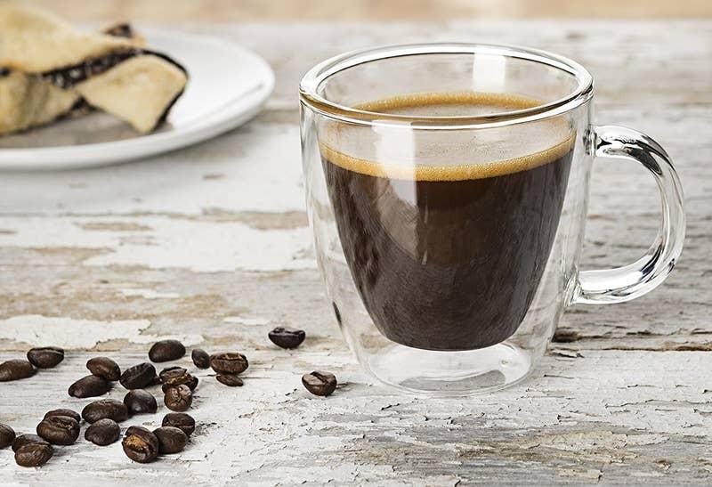 taza transparente para cafe