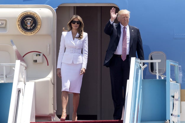 On Monday, President Donald Trump and first lady Melania Trump landed in Tel Aviv for the second stop of their international tour.