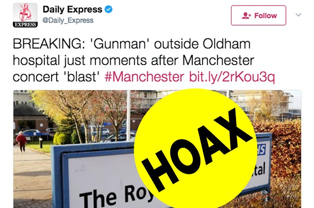 buzzfeed.com - This Is Some Of The Fake News Circulating About The Manchester Arena Blast