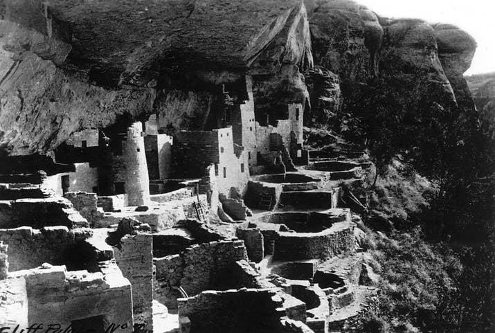 El pueblo abandonado Mesa Verde, en Colorado.