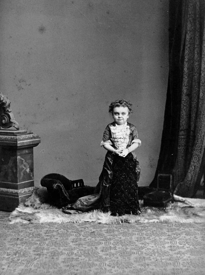 La artista circense Jenny Worgen (aproximadamente 1890).
